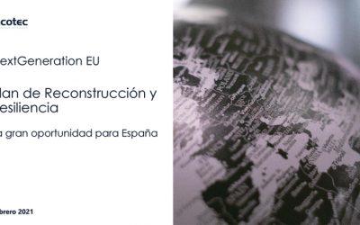 NextGeneration EU y Plan de Reconstrucción y Resiliencia